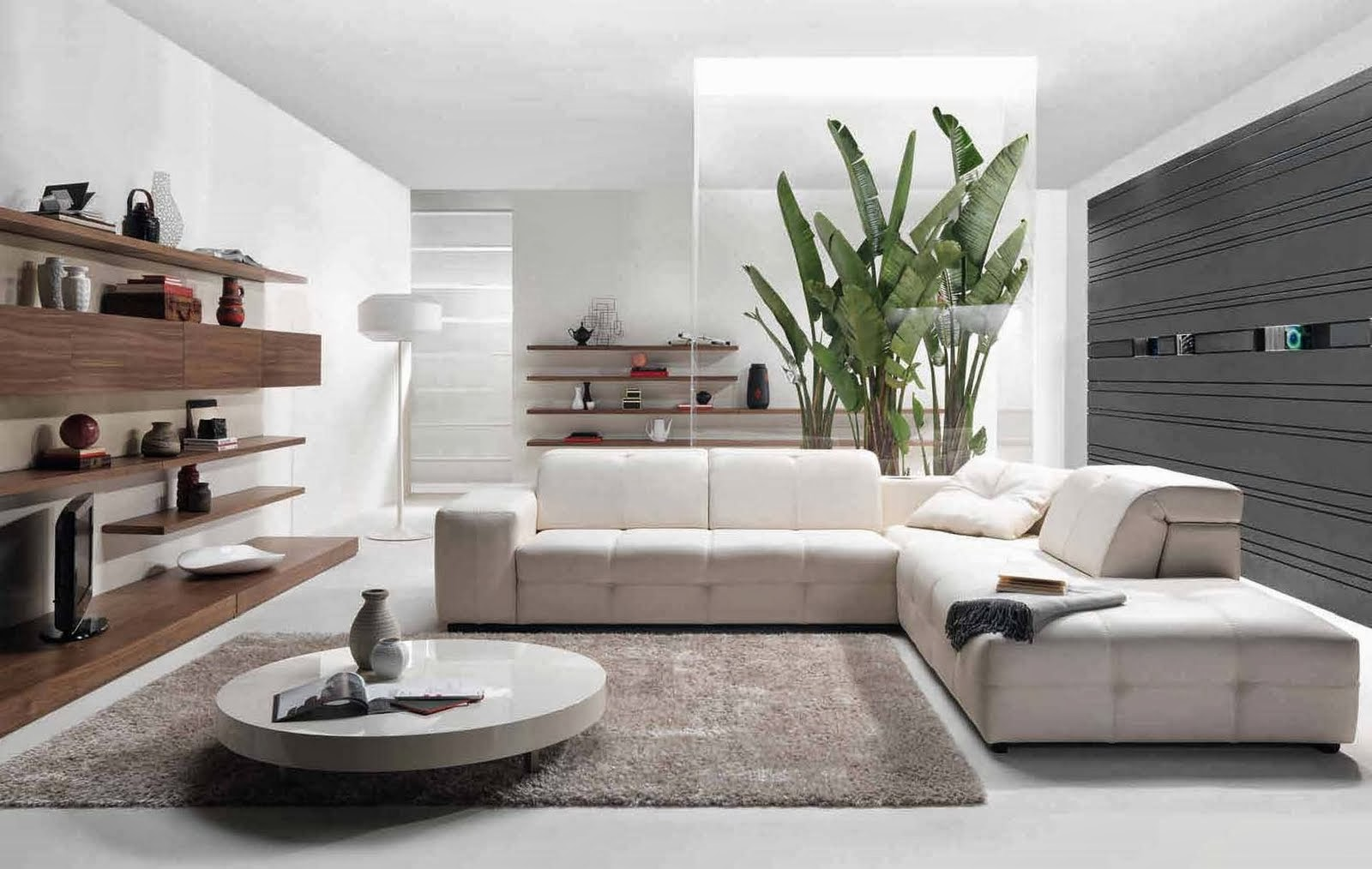 Modern furniture and interior design for a living room.
