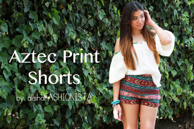 charlotte russe statement earrings vanilla star jeans blouse aztec print shorts urban outfitters fringe booties nine west kluster shop bracelet fashion blogger