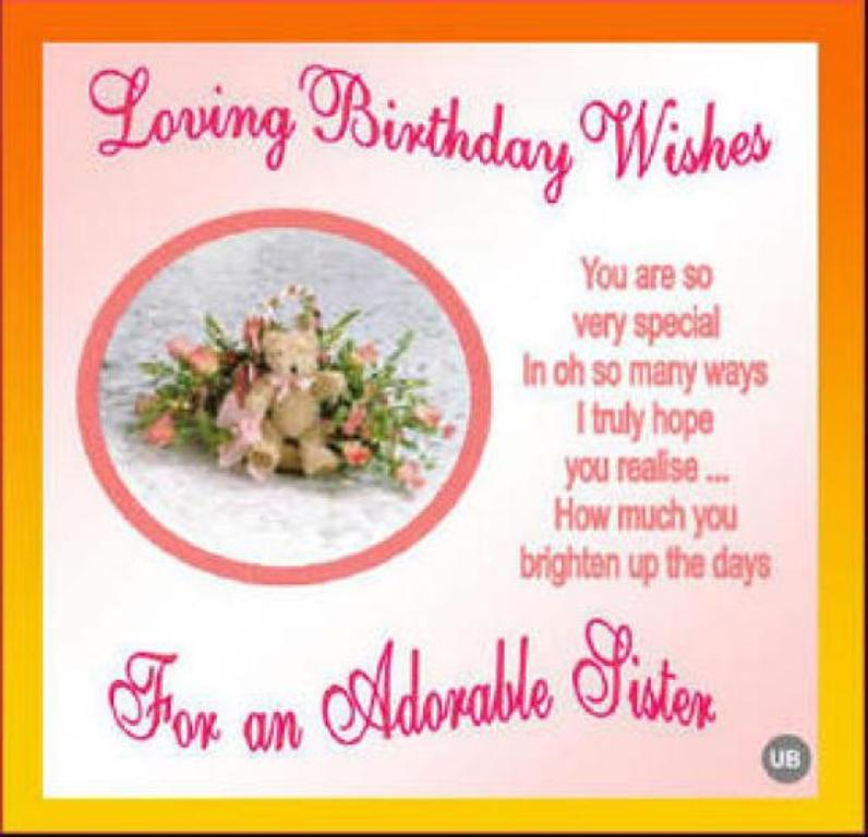 Happy Birthday Wishes For Sister Quotes Wish Happy Birthday Sms In