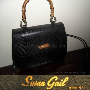 Queen Maxima Style Susan Gail bamboo handle handbag