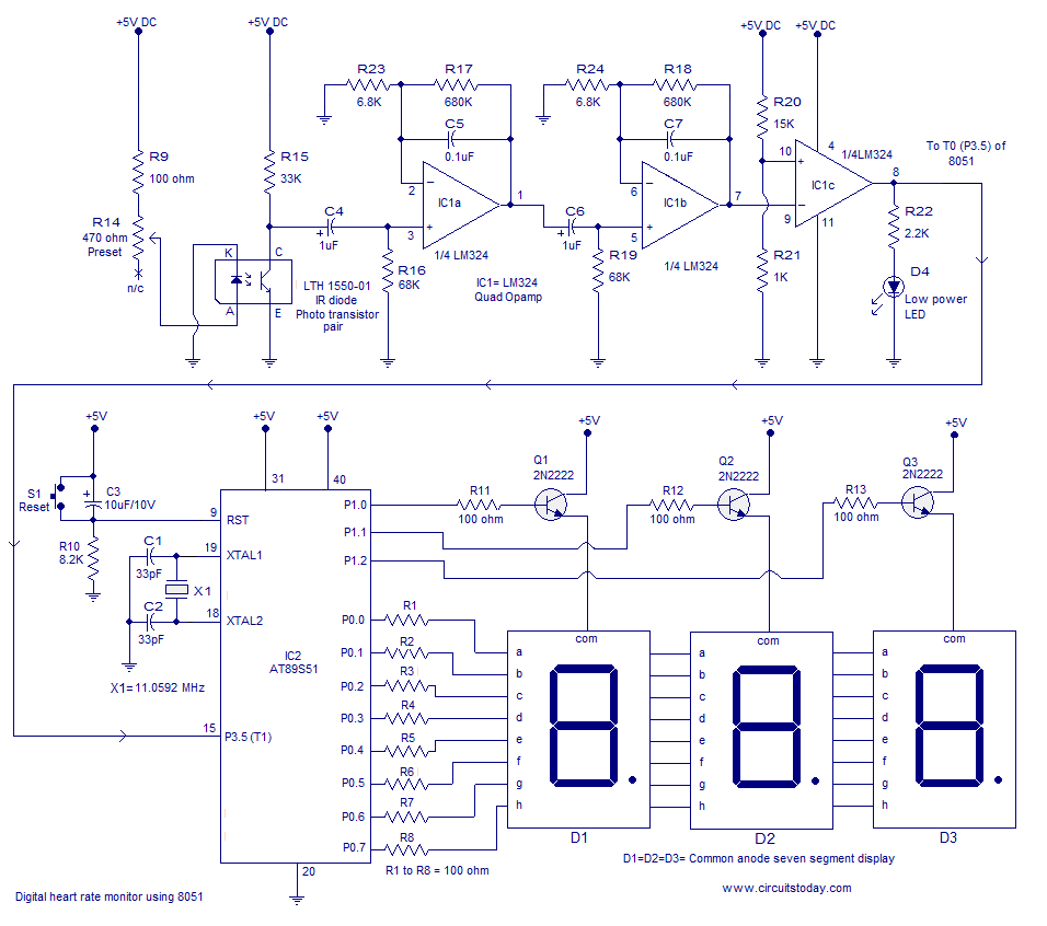 Studentss November 2014 The Lm324 Quad Comparator Circuit Images Frompo Diagram
