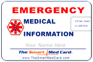 Smart Emergency Medical ID USB Card
