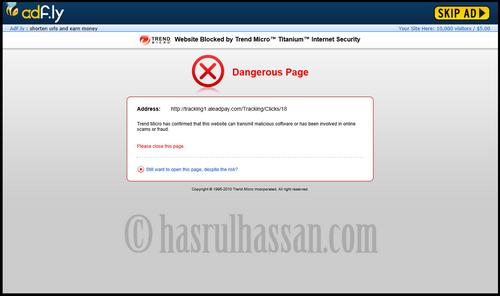 Bahaya Menggunakan Adf.ly Sebagai Pemendekan URL