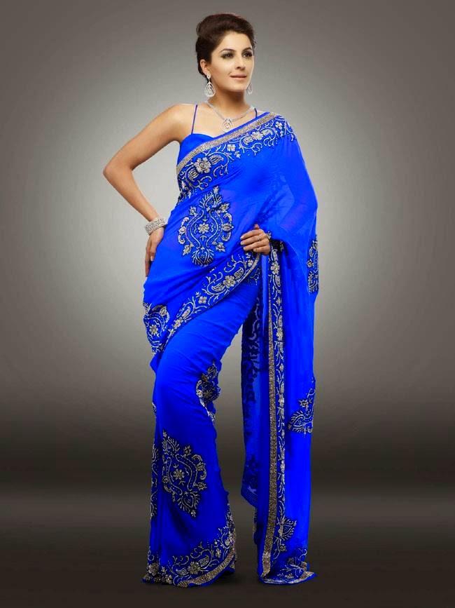 Isha Talwar In Blue Saree