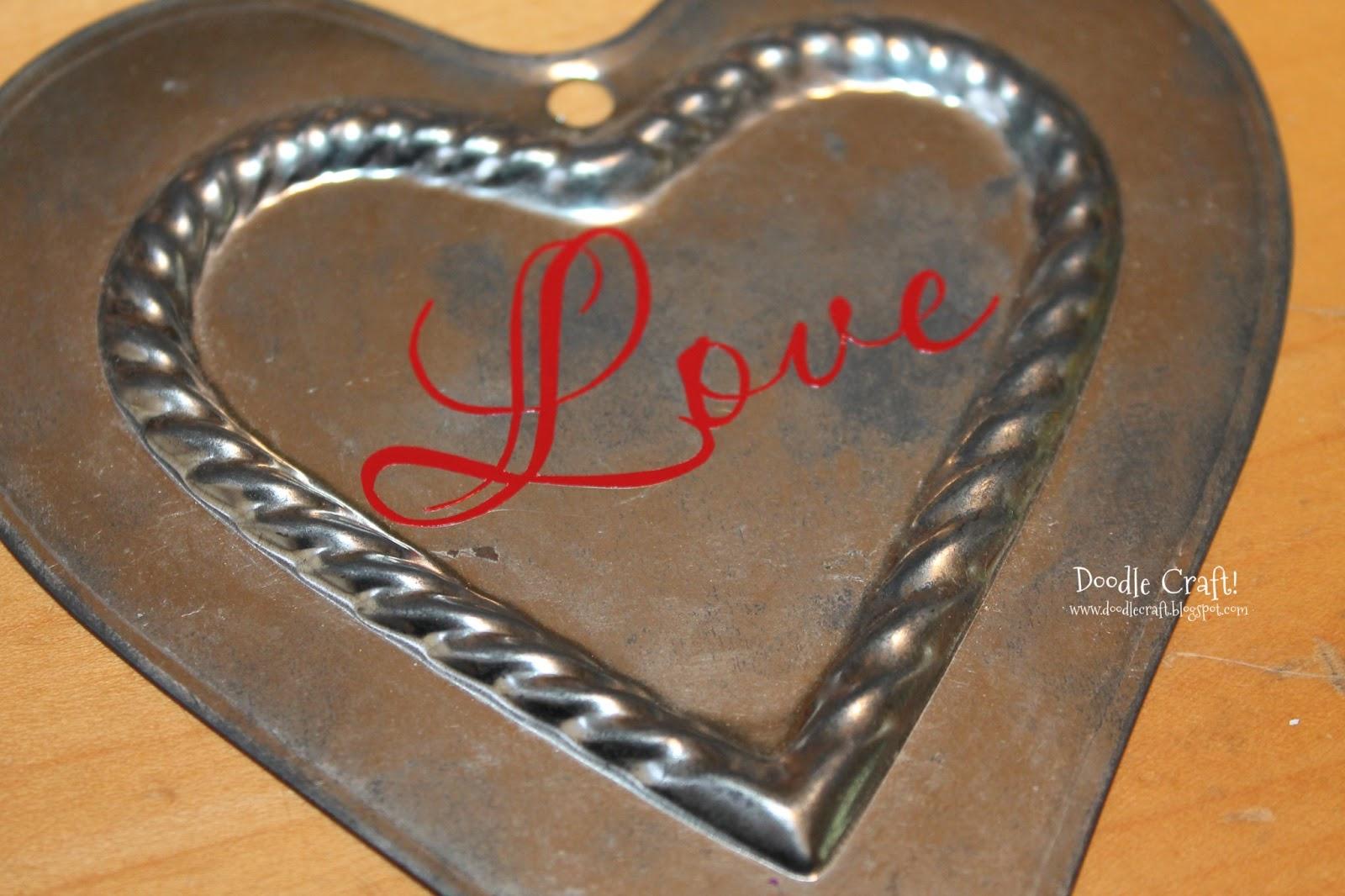 Metal heart ornaments - Add Some Fabulous Ribbon