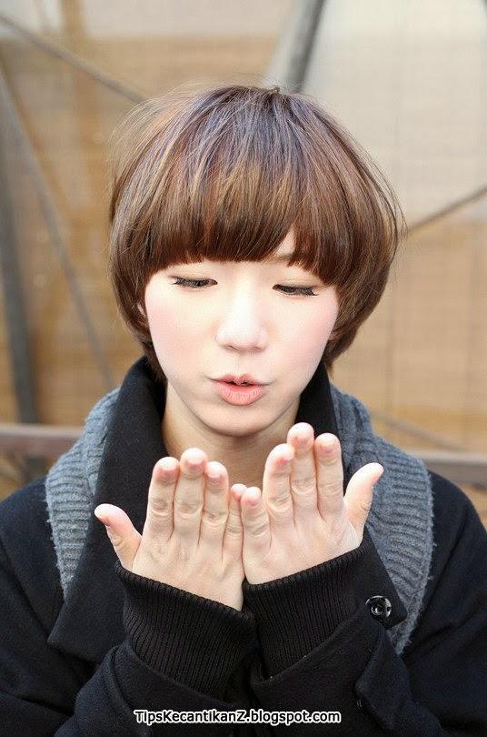 Gaya rambut wanita korea model jamur