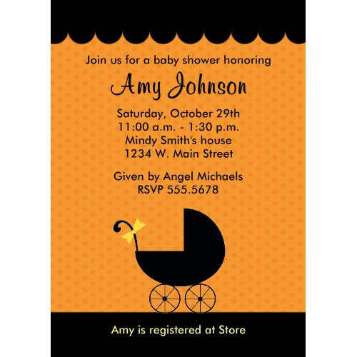 shower baby halloween invitations baby ideas invitations halloween