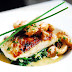 Roast cod fillet with shellfish beurre blanc and wild mushrooms/Cod cu fructe de mare beurre blanc si ciuperci