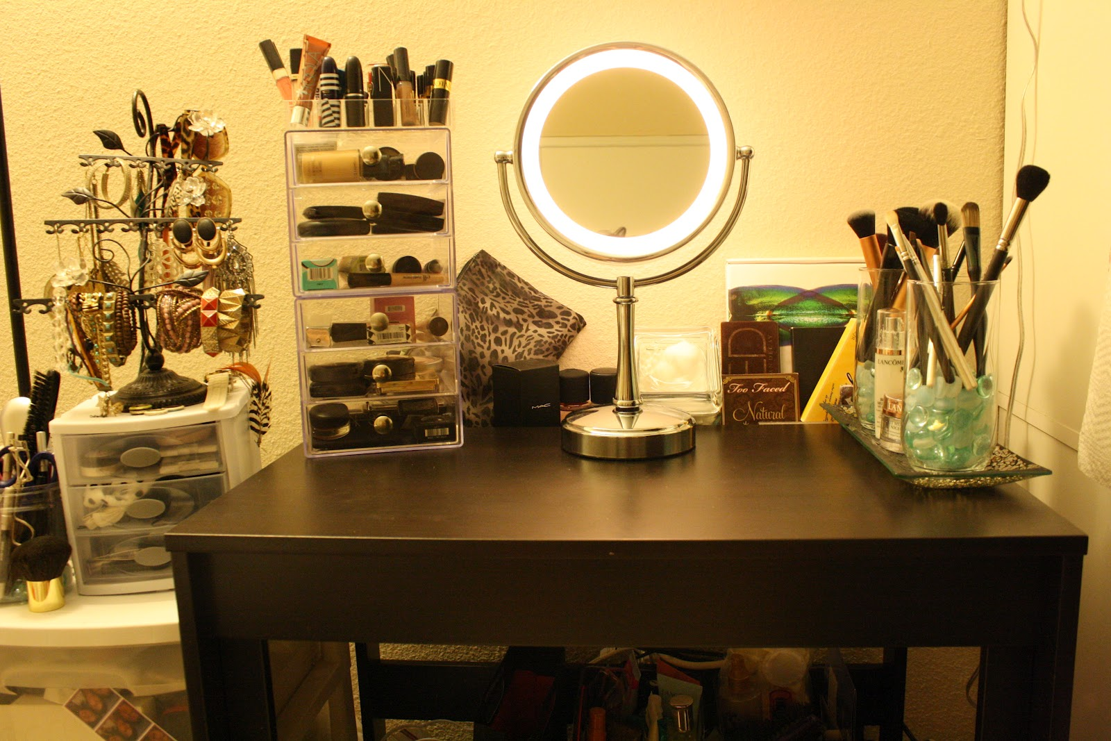 makeup vanity organization ideas. My makeup vanity  With organization tips Reviews on beauty advices