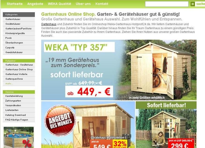 Holzprofi24 Weka Gartenhaus | My blog