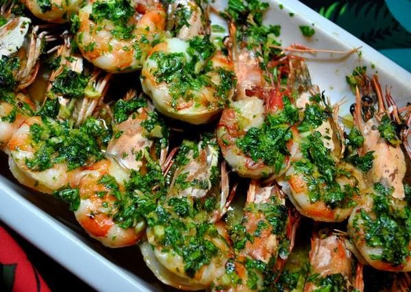 Shrimps with olive oil and garlic, Monastic Recipe, Mediterranean Diet, Monastic Recipes of Holy Mount Athos,