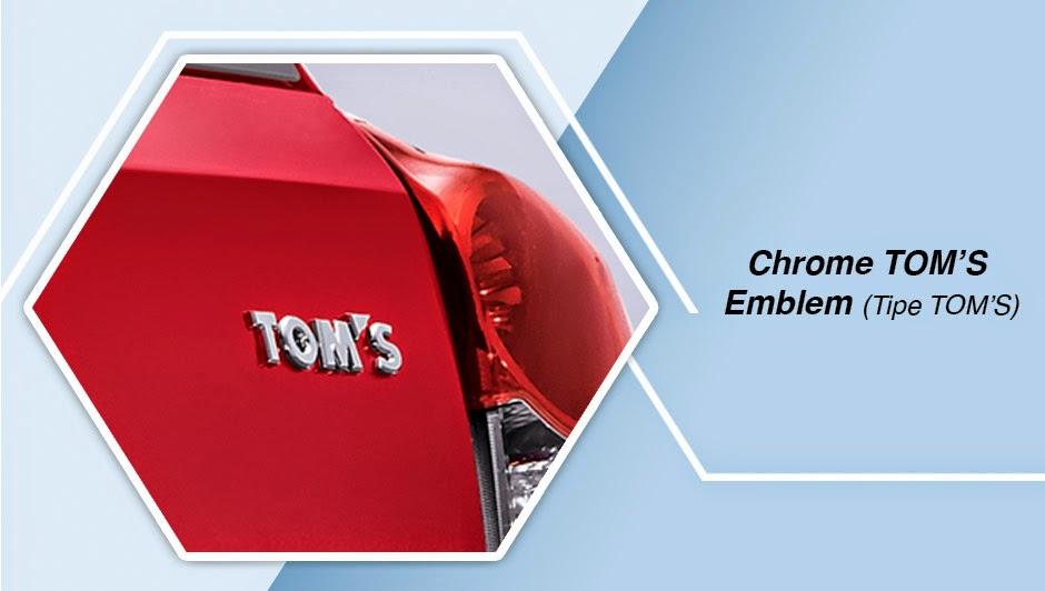 Chrome TOM'S Emblem (Tipe TOM'S) etios valco