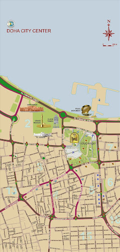 Doha city center map