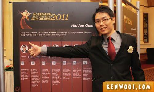 nuffnang blog awards 2011 hidden gem board