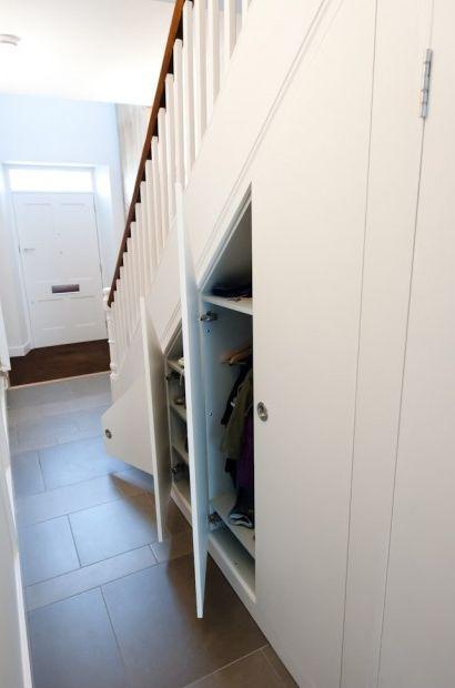 Mudroom Storage Under Stairs : Sixteen sunbuckles under the stairs