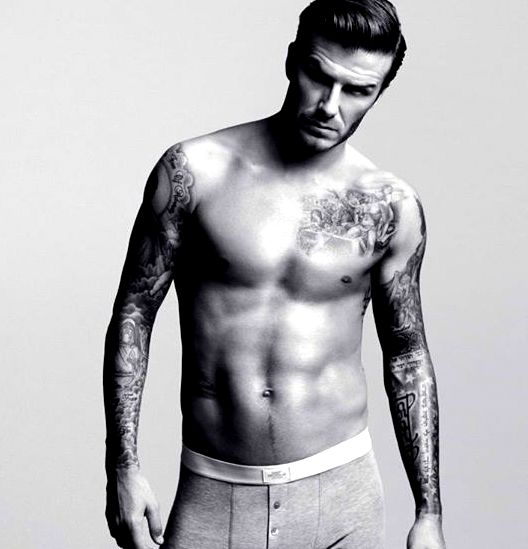 Beckham Hindi Tatoo on arms