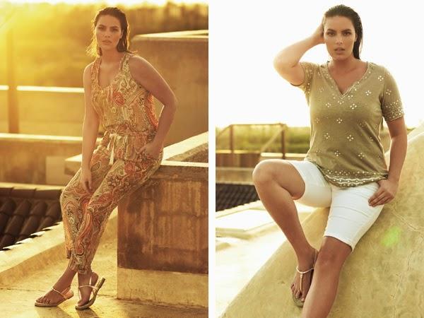 ropa tallas grandes Violeta by Mango verano mono bermuda y sandalias