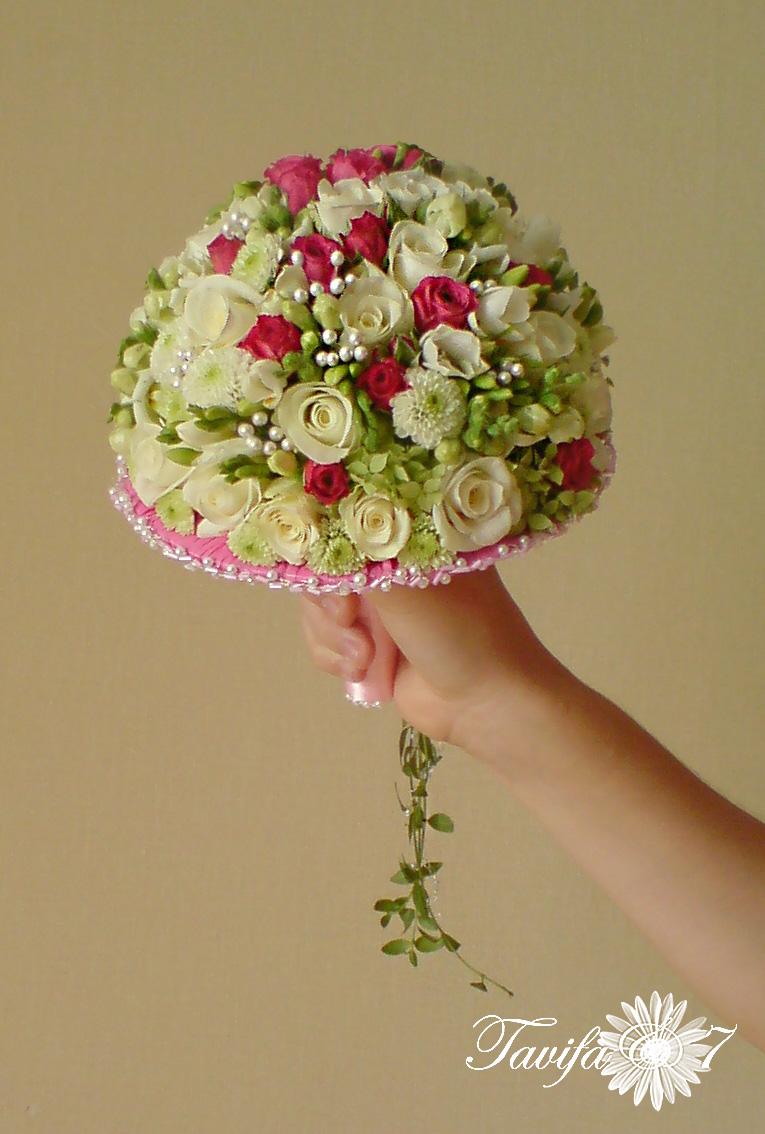 Букет невесты без портбукетницы своими руками 64
