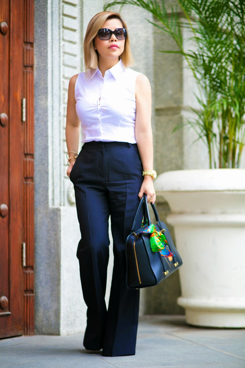 White top and black trousers, a guide to business attire for women