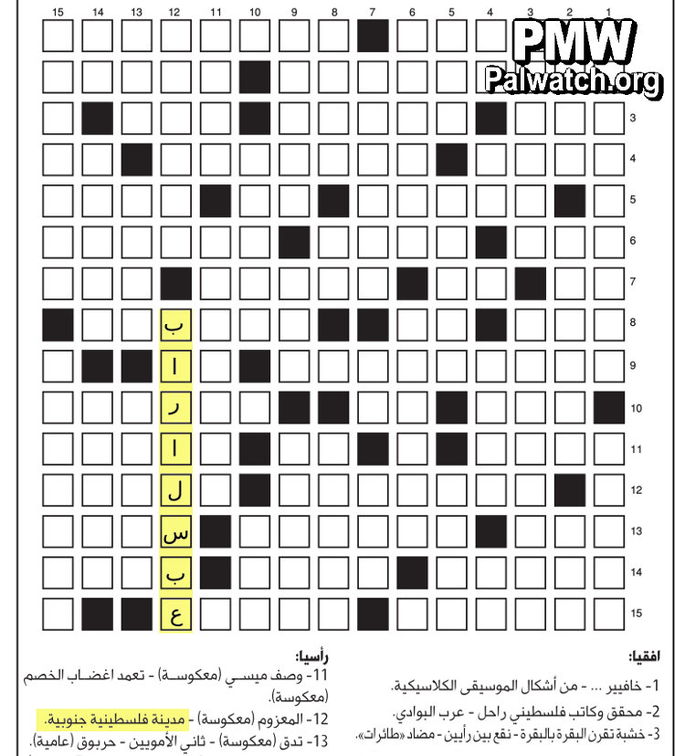 With its crossword clues,