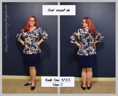 Kwik Sew 3765, casual look, front and back