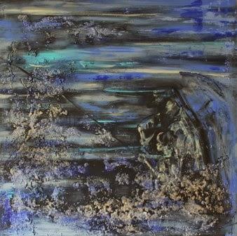 Para el Aitá (obra por encargo).Arena y Pintura Acrílica 2014. 80x80cm