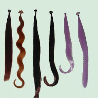 different colors in 20 in. hair extensions