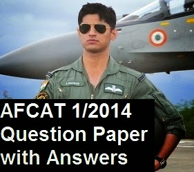 AFCAT 1 2014 question paper