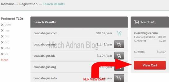 cara membeli nama domain di Namecheap.com