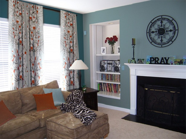 great teal living room