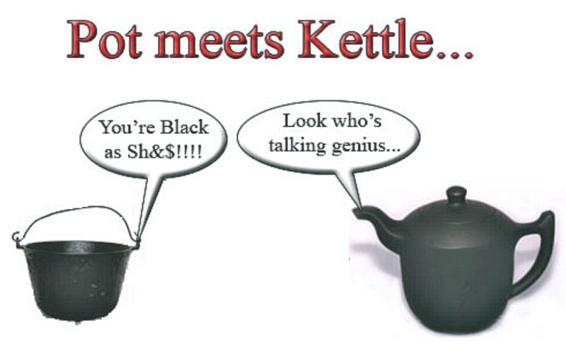 Pot Calling The Kettle Black ~ Blinded by the light how your doctor is taught to deal