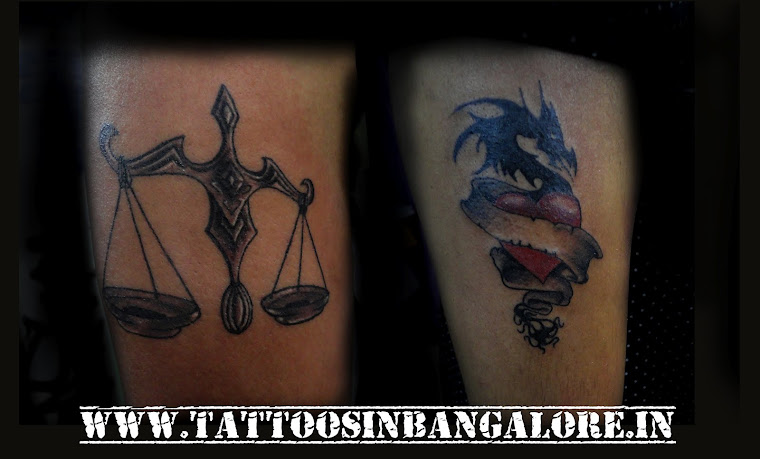 libra tattoo and Dragon tattoo