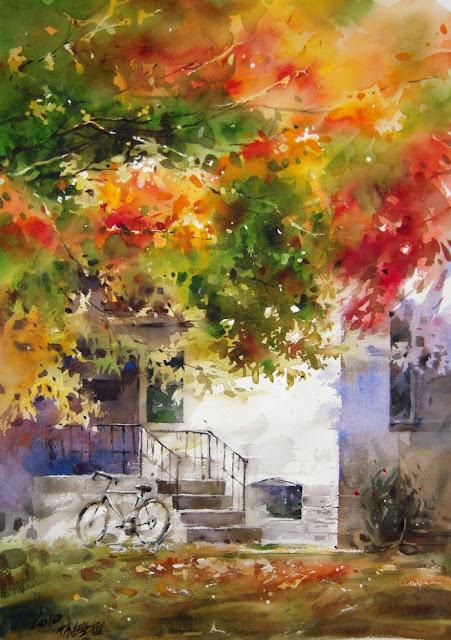 Акварельная живопись. Lin Ching Che
