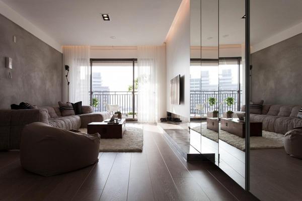 Diseño estilo taiwanés: expuesto apartamento contemporáneo ...