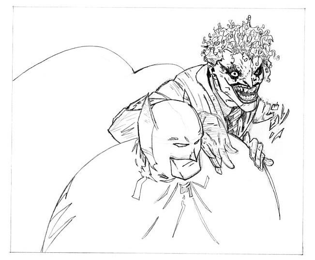 disegni da colorare di batman e joker