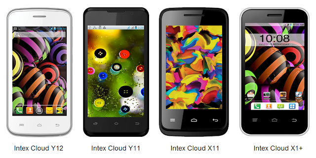 Intex Cloud smartphones