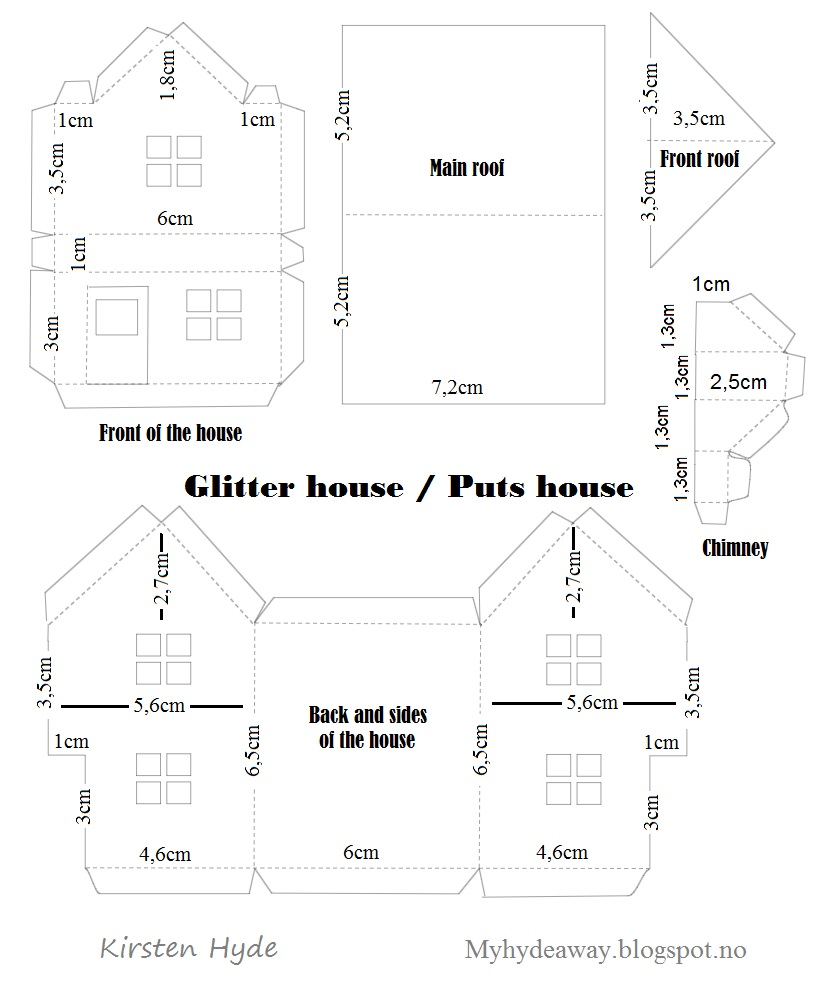 My craft and garden tales glitter house box with maja House design templates