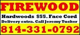 Hardwood Firewood $55.