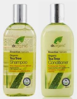 dr organic champú y acondicionador aceite del árbol del té