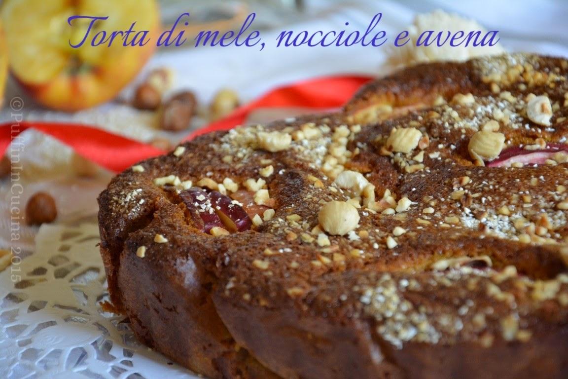 torta di mele, nocciole e avena (an apple, hazelnut and oat cake) in versione romantica per la recake 2.0 di febbraio
