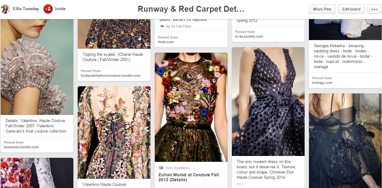 Pinterest High Fashion Couture Runway Red Carpet