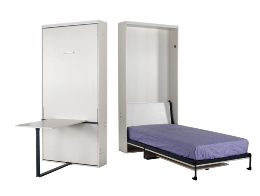 standard wall beds. basic flexi modular vertical wall bed with table in standard single size beds