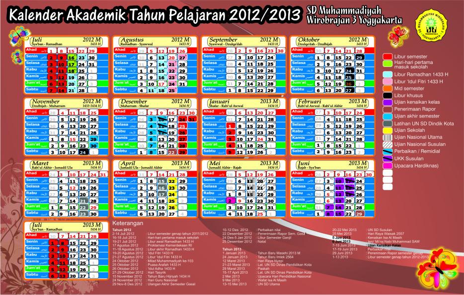 kalender pendidikan sd tahun 2013-2014