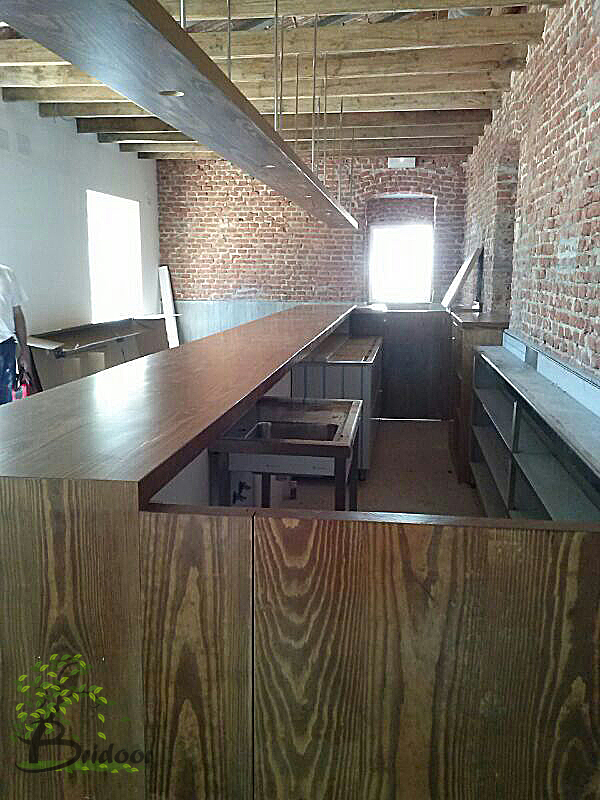 Bridoor s l rehabilitacion club de campo madrid barra for Restaurante madera