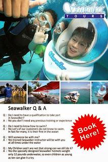 Promo seawalker Bali