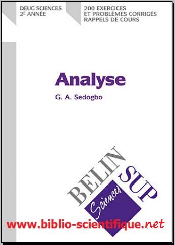 Livre : Analyse, Deug de sciences 2e année - 200 exercices et problèmes corrigés