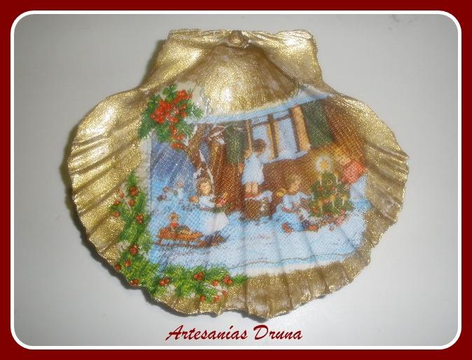 Artesan as druna conchas navide as i for Artesanias navidenas
