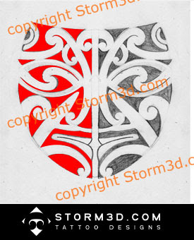 vector file mask maori tattoo logo tracing Illustrator design