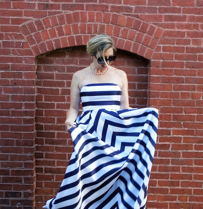 Jessica Simpson chevron dress; what to wear to a wedding, what to wear to a formal wedding