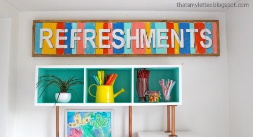 diy handpainted multi-color sign